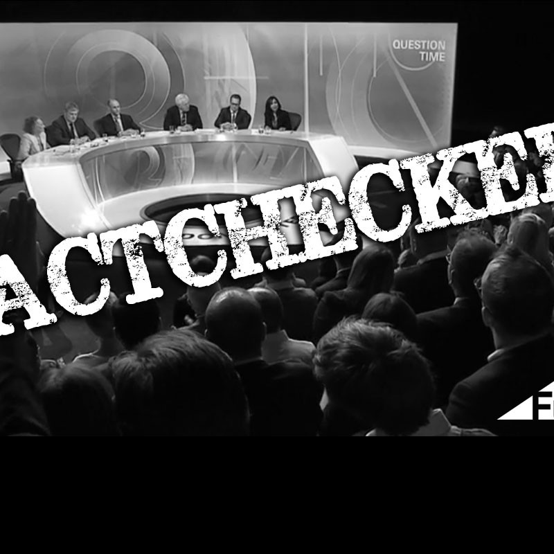 14 April's BBC Question Time, factchecked