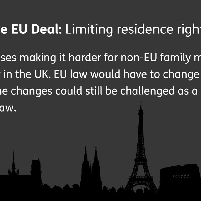 Explaining the EU deal: limiting residence rights for family members