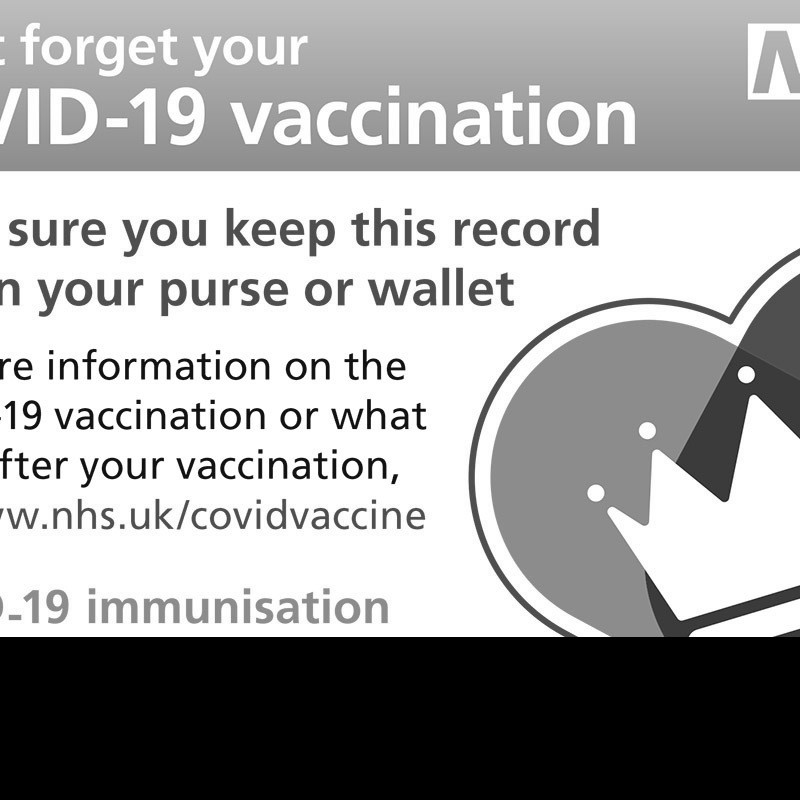 The new vaccination card is not a 'Covid passport'
