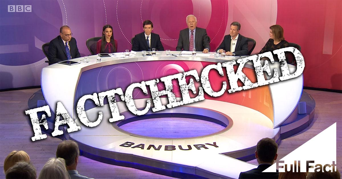 BBC Question Time from Banbury