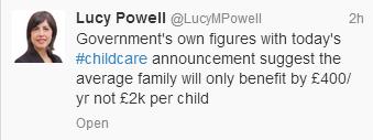 Lucy Powell tweet