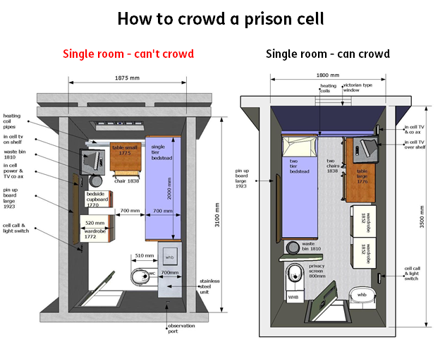 prison cell crowding