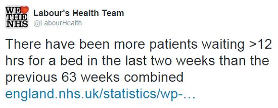 Labour health tweet